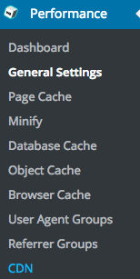 w3tc cache performance options