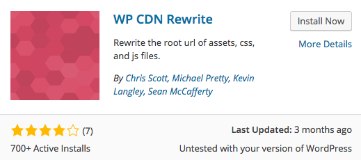 WP CDN Rewrite plugin