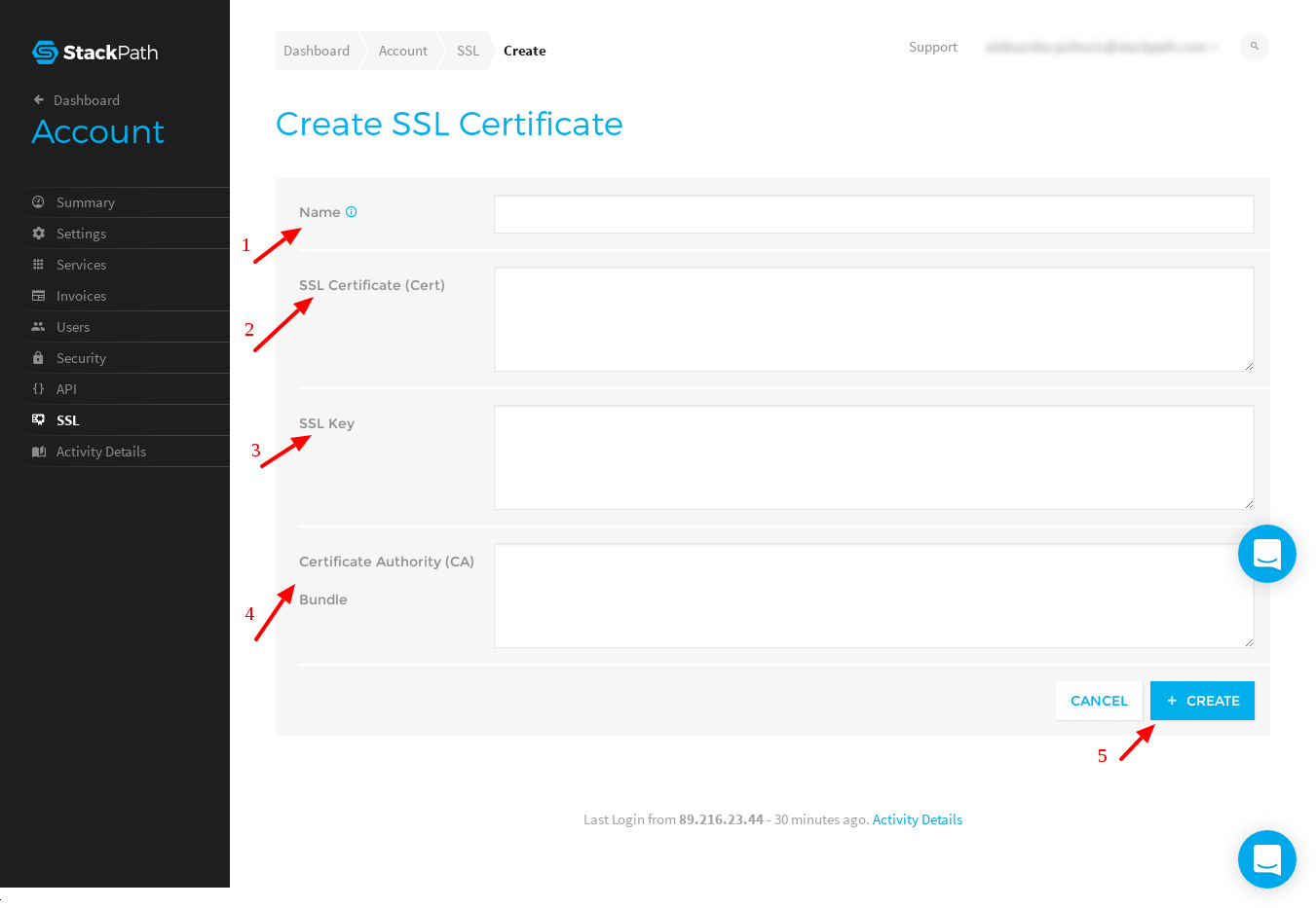 How to upload ssl certificates to stackpath stackpath support input ssl certificate details xflitez Gallery